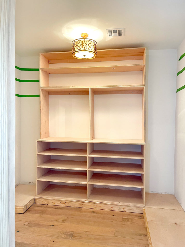 DIY Master Closet with Built Ins