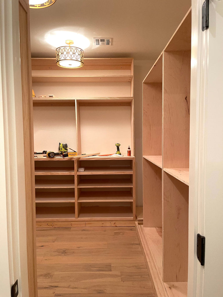 Building the wardrobe built in for a DIY master closet