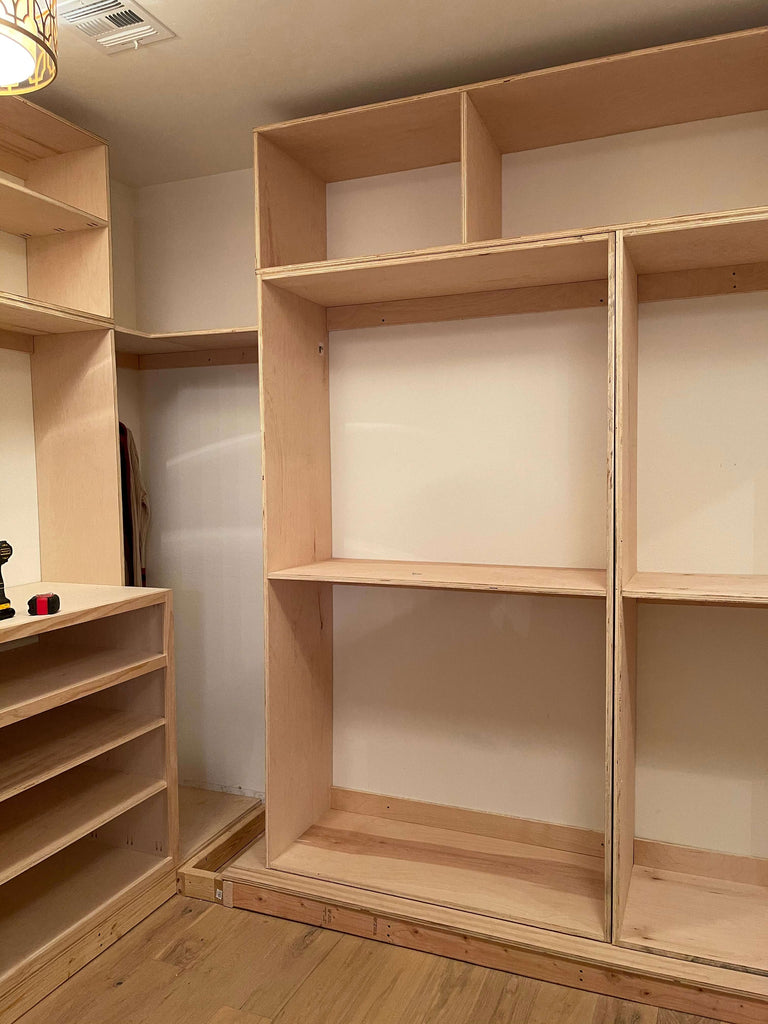 Building the side wardrobe built in for a DIY master closet