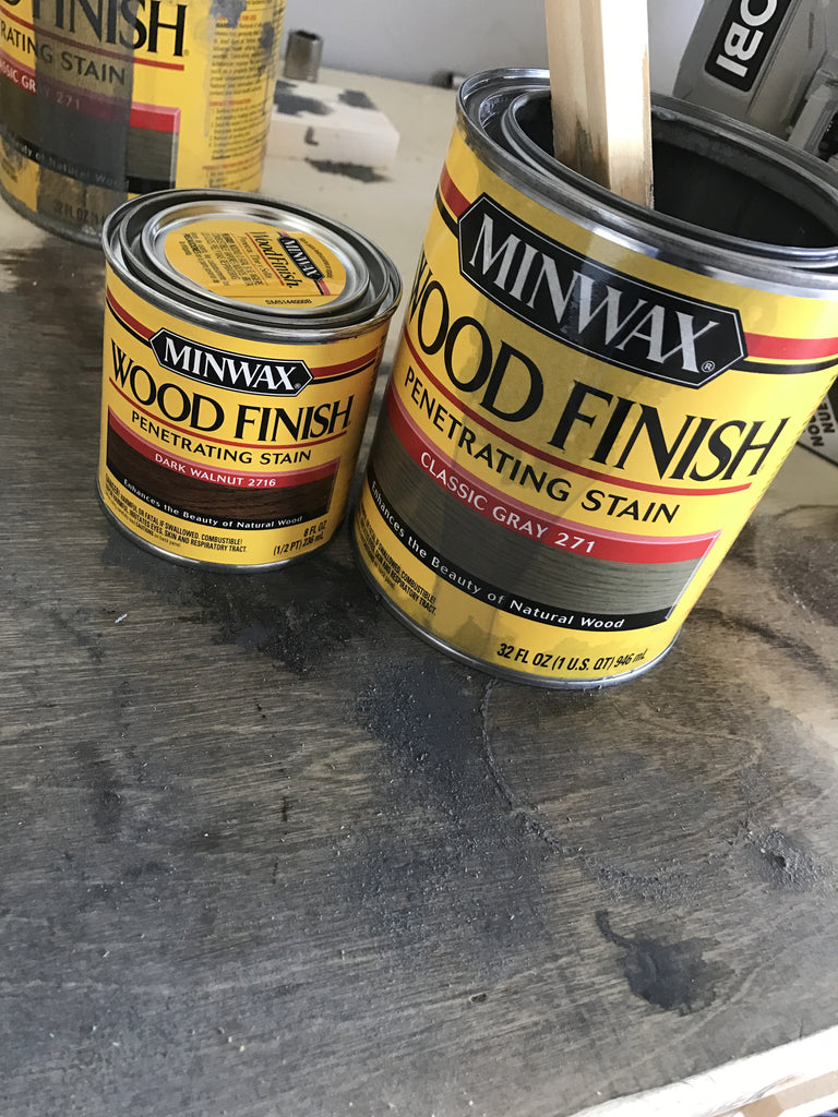 Minwax Wood Stain Classic Grey and Provincial