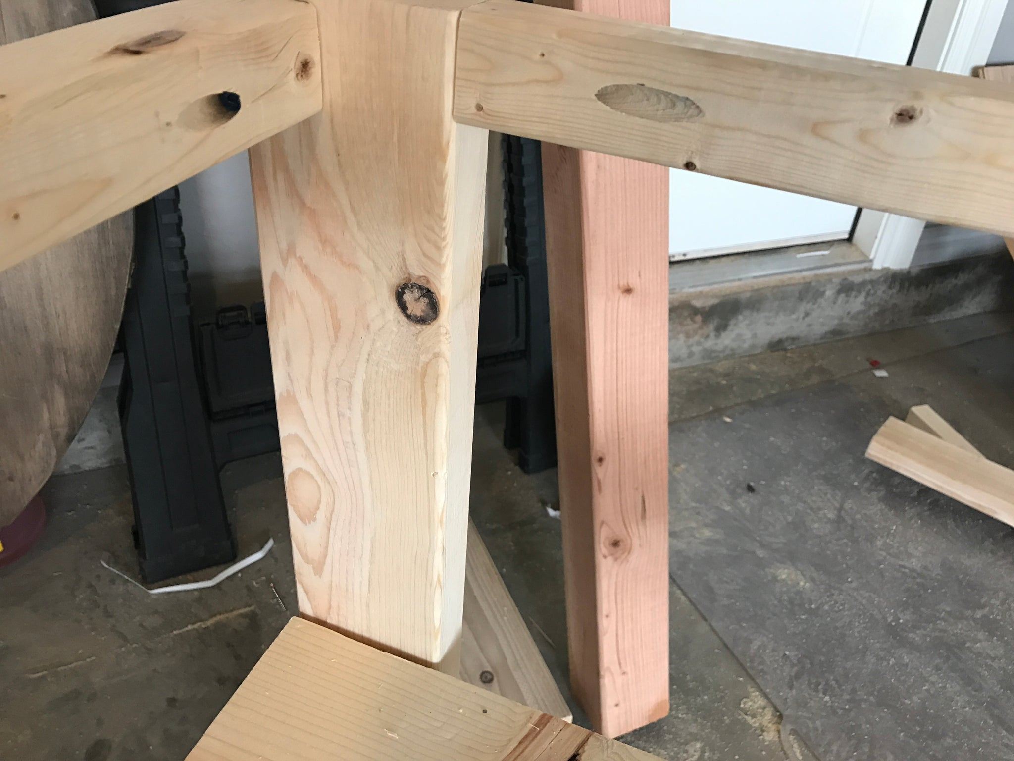 Pocket Hole Joinery for a X console table