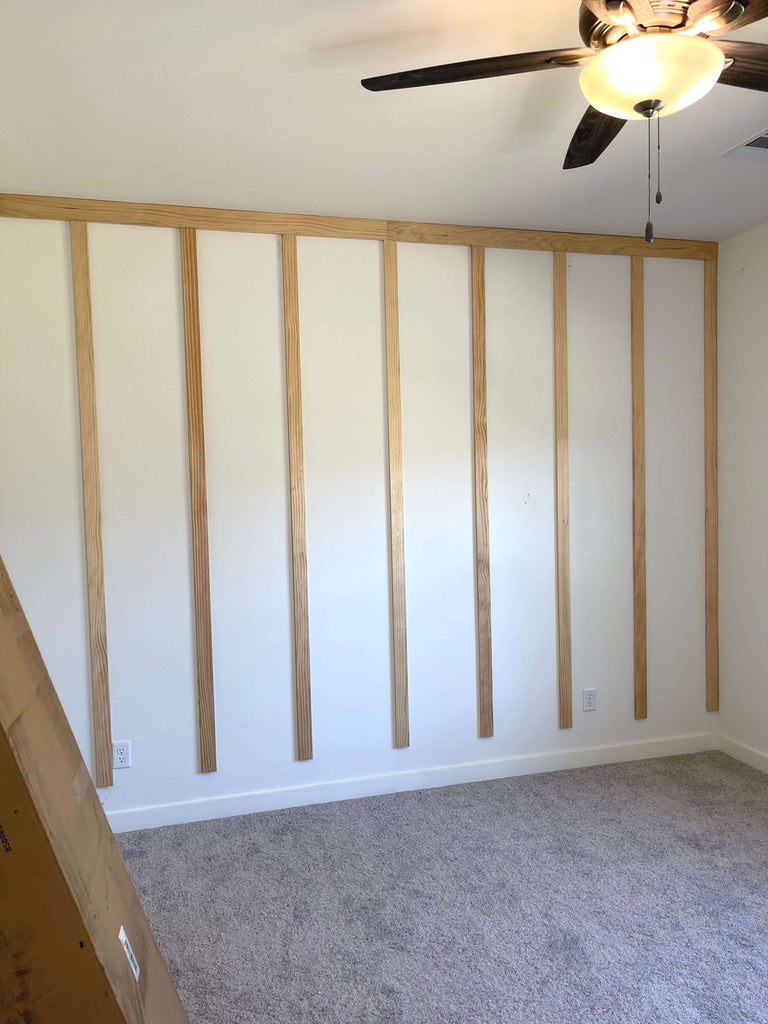 Install Vertical Accent Wall