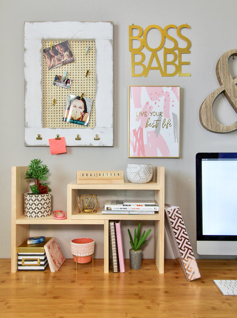 DIY message board and office organizer