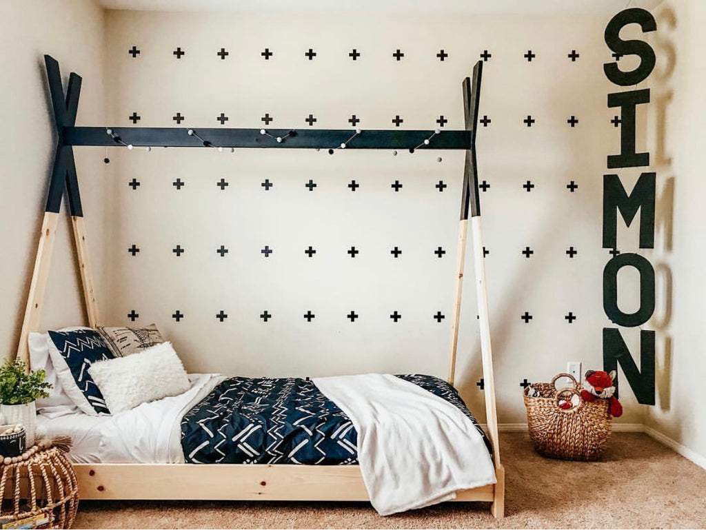7 Inspiring Kid Room Color Options For Your Little Ones: DIY Kids Teepee Bed