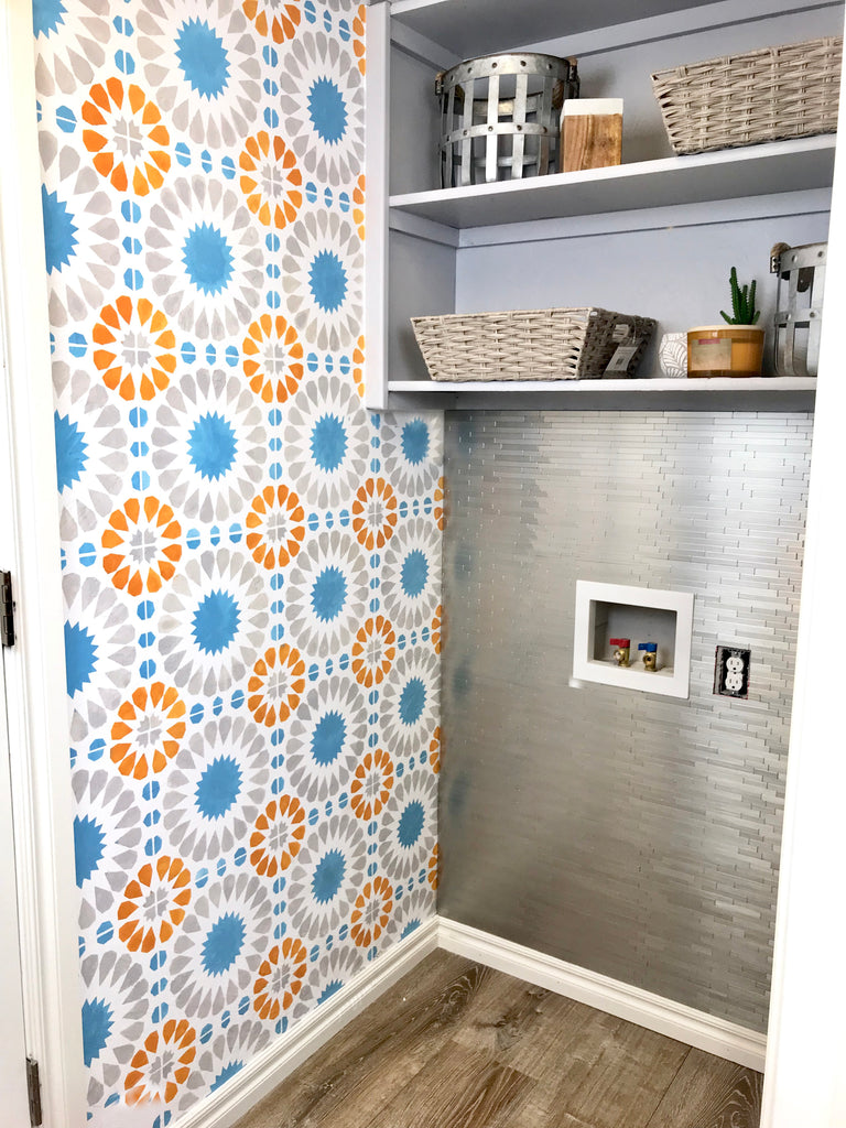 Laundry Room Wall Stencil