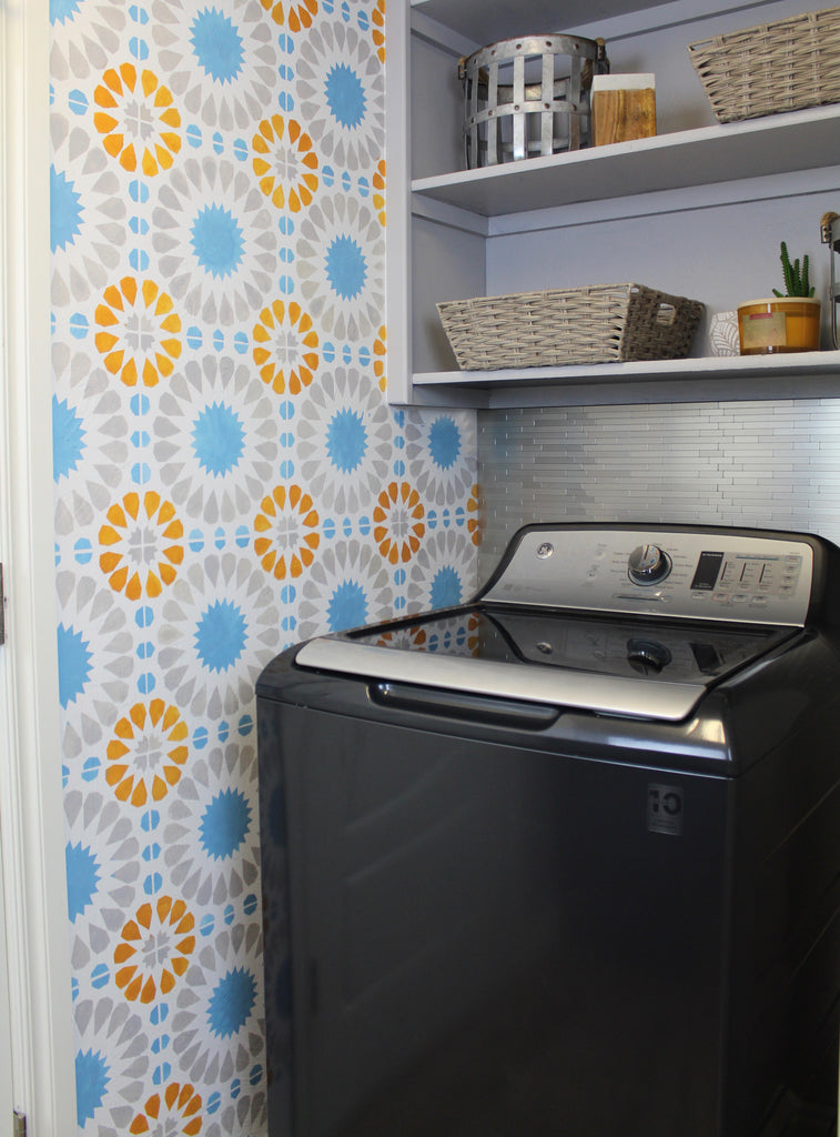 Laundry Room Makeover with GE appliances Diamond Gray