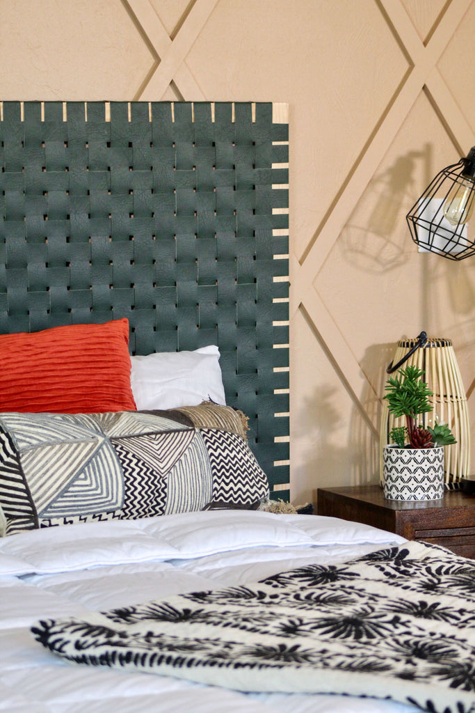 Leather Woven Headboard