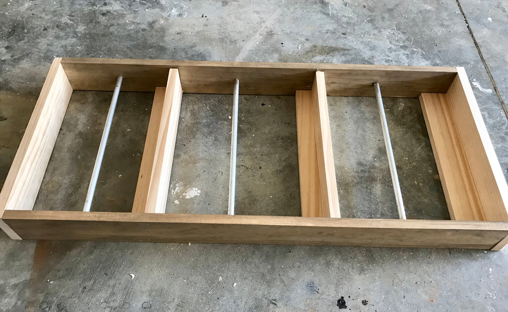 DIY Magazine Shelf Rack