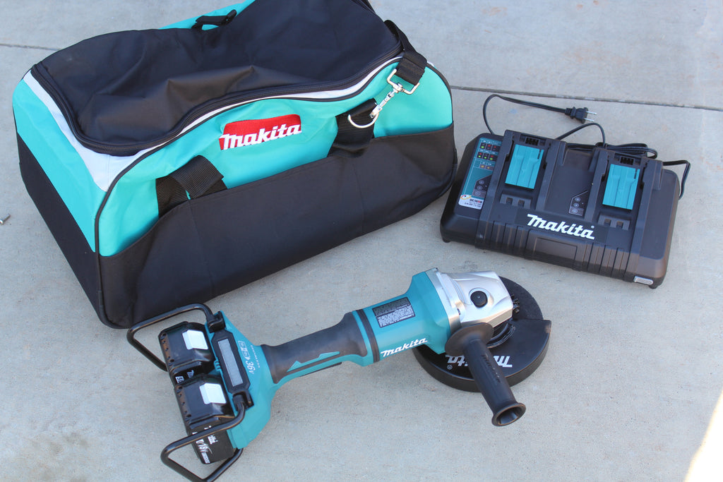 Makita 8-Volt 5.0Ah X2 LXT Lithium-Ion (36-Volt) Brushless Angle Grinder Kit Tool Review