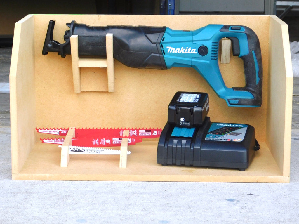 Makita Reciprocating Saw and Diablo Blade Storage