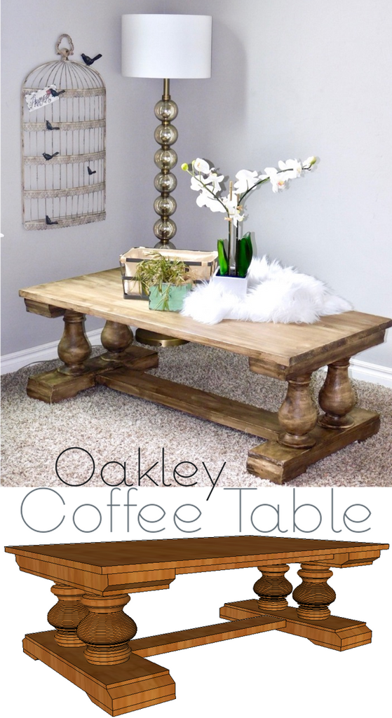 DIY Coffee Table with Osborne Wood Products turned legs
