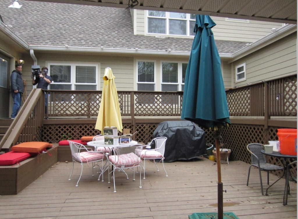 Patio Deck Makeover