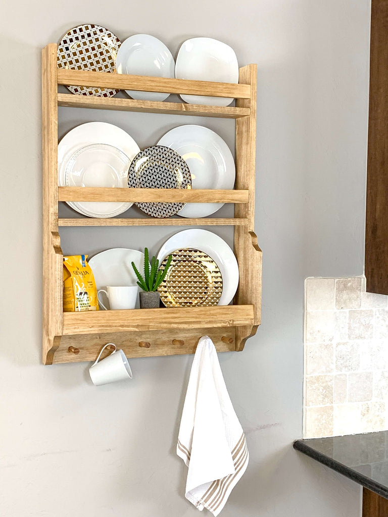 Diy Plate Rack Handmade Haven