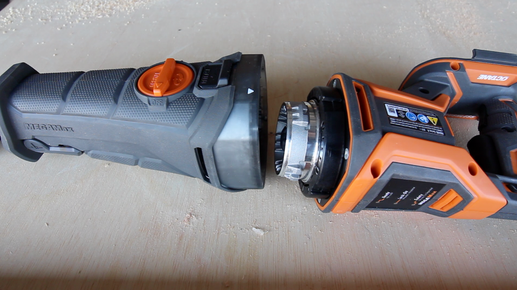 RIDGID MegaMax. Power Base and Reciprocating Saw Head Attachment