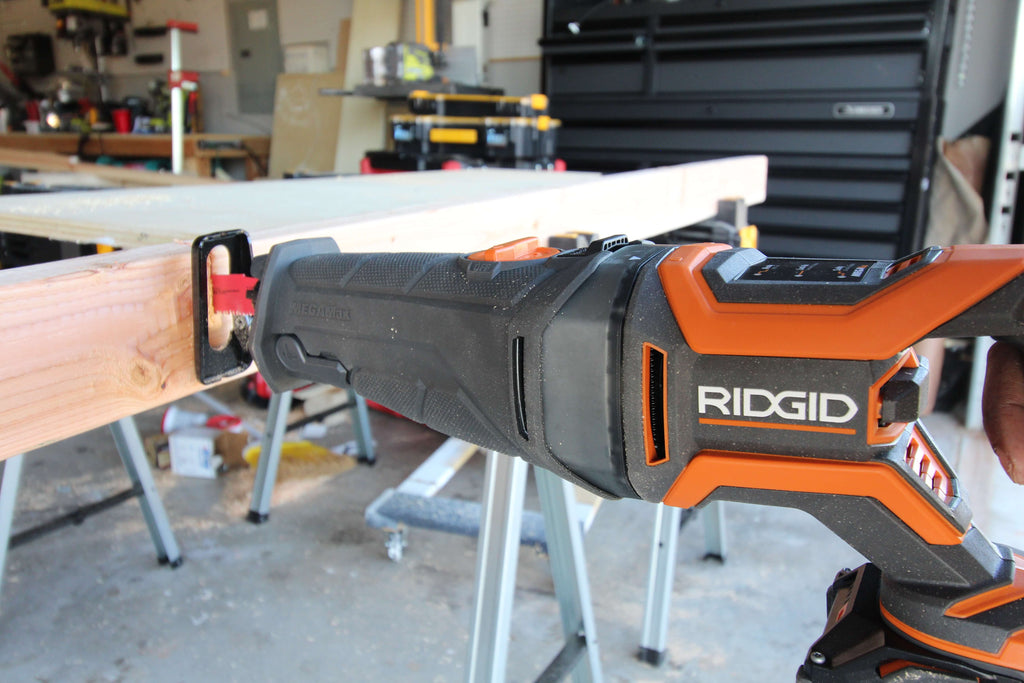 RIDGID Mega Max with Reciprocating Saw Head Attachment