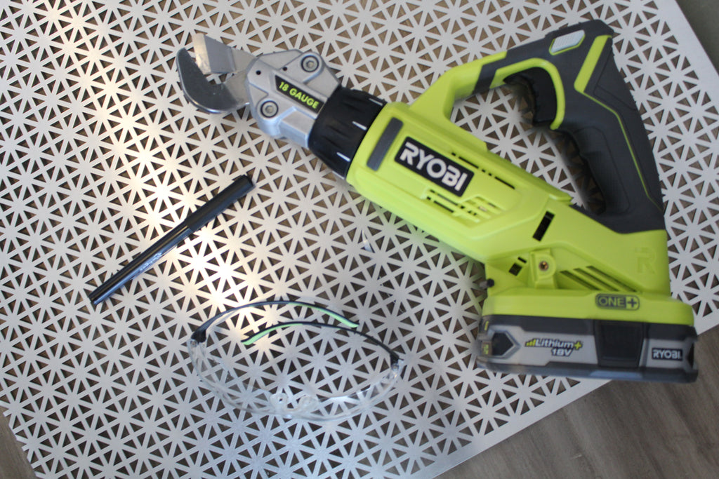 Ryobi 18-Volt 18 Gauge Offset Shears - Aluminum sheet metal