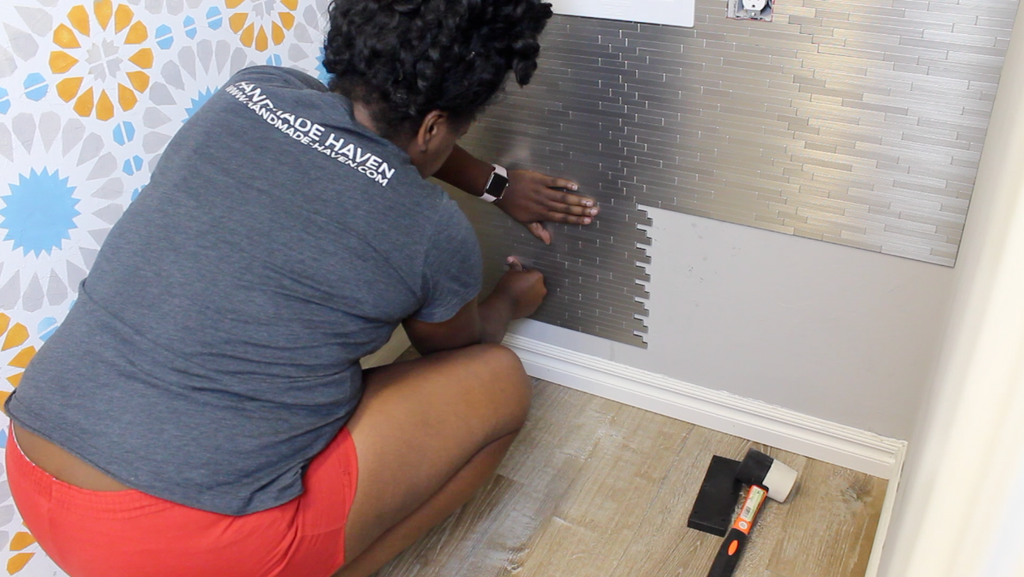 Applying speed tiles to the wall