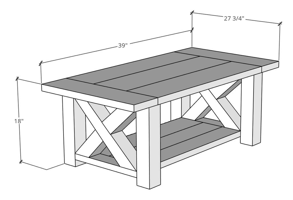 Chunky Farmhouse Coffee Table Plans