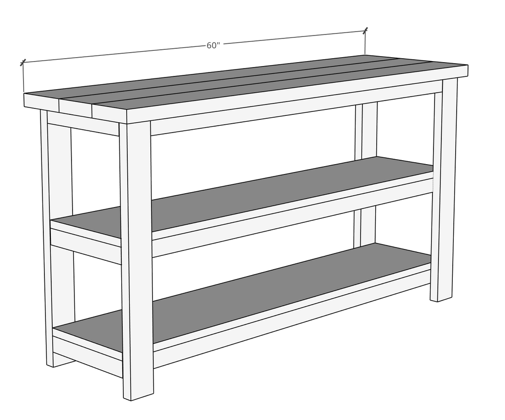 Rustic X Console Table Plans