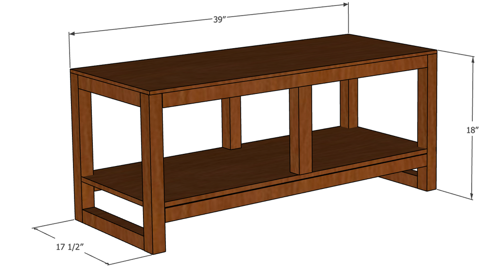 DIY Entryway Hall Tree Bench Plans