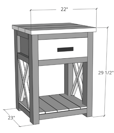 Farmhouse Nightstand Dimensions