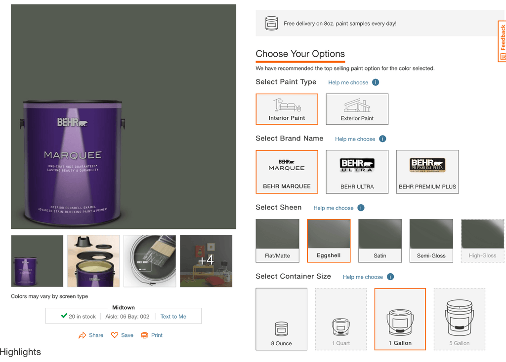 Behr Marquee Paint Options