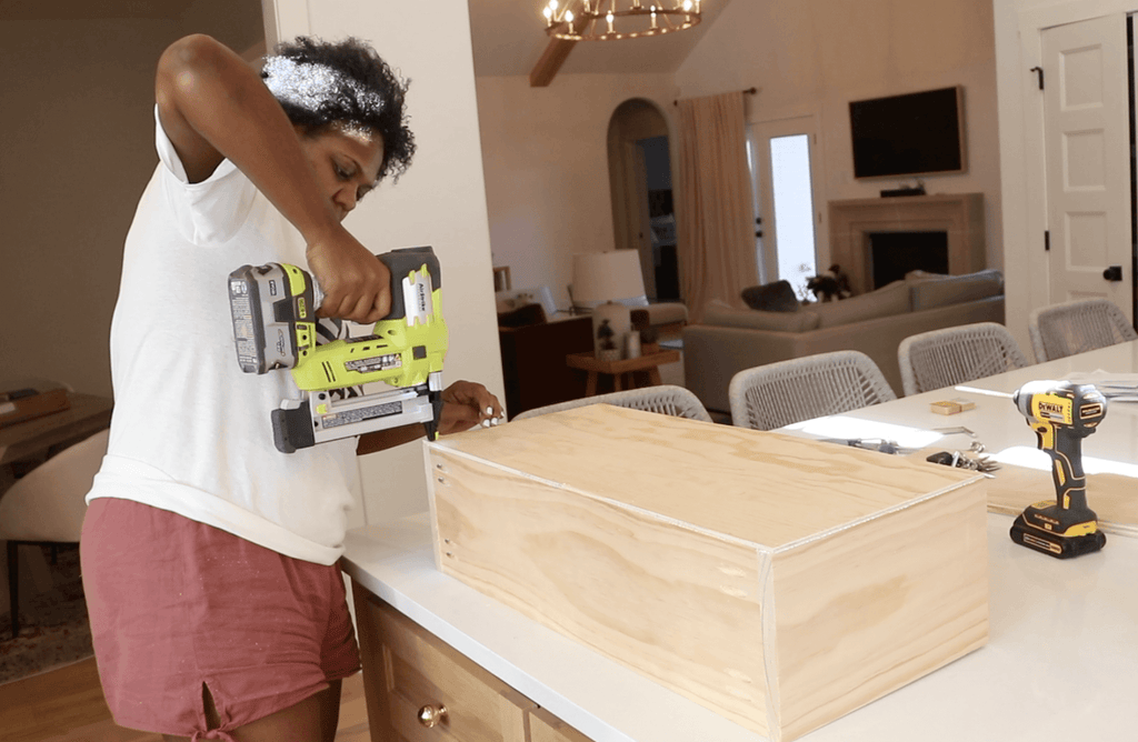 Attaching underlayment to drawer