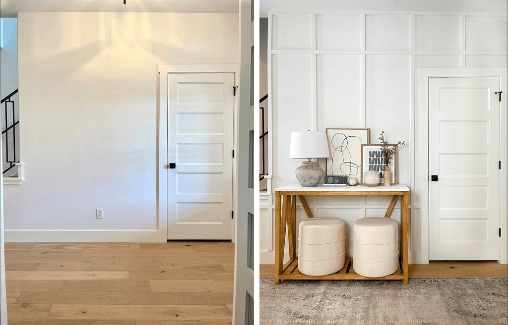 Before and after of entryway