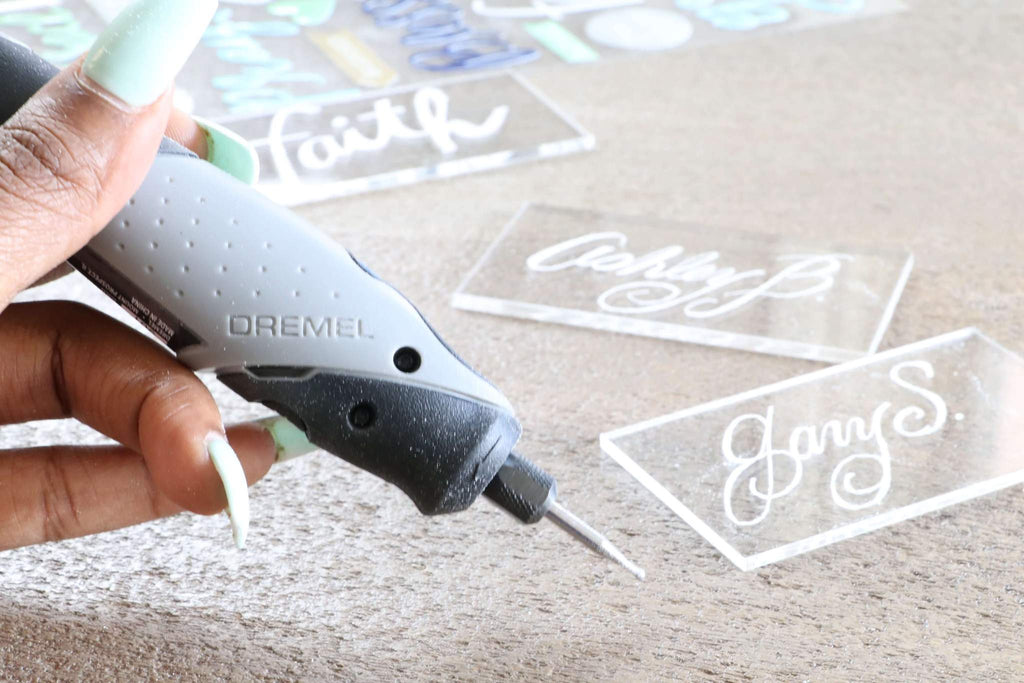 Dremel Stylo Craft Tool with acrylic place cards