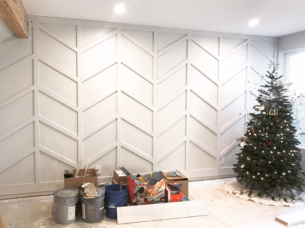 Wall Herringbone Paneling - Urban Wall Design