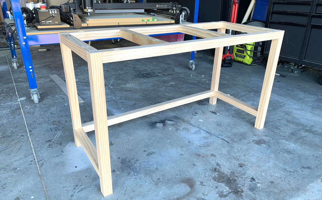 DIY Vanity Desk Base