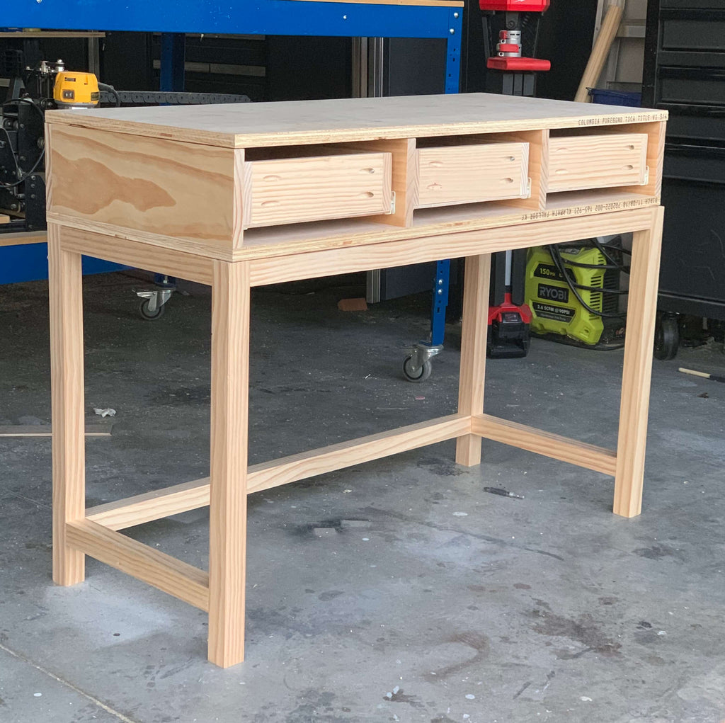 DIY Vanity Desk without drawer fronts