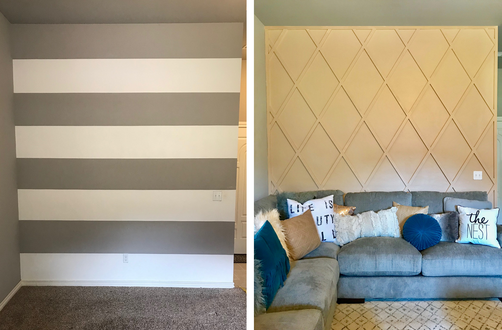Wall Paneling Before and After