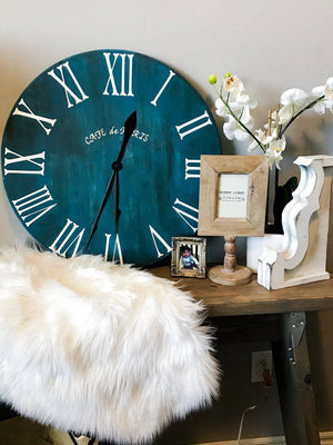 DIY Roman Numeral Clock tutorial