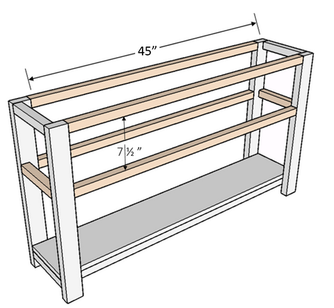 Three Drawer Console Plans