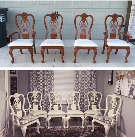 DIY Dining Chair Makeover with Chalk Paint