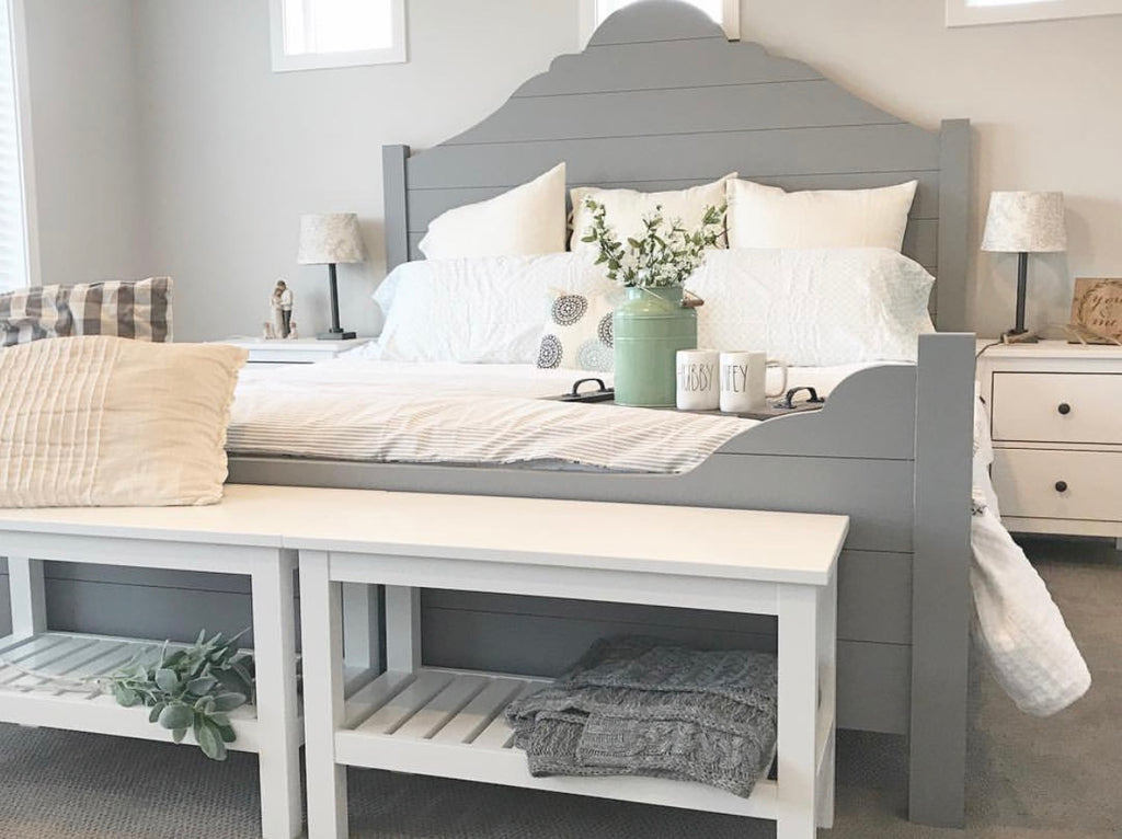 DIY Shiplap Bed Frame