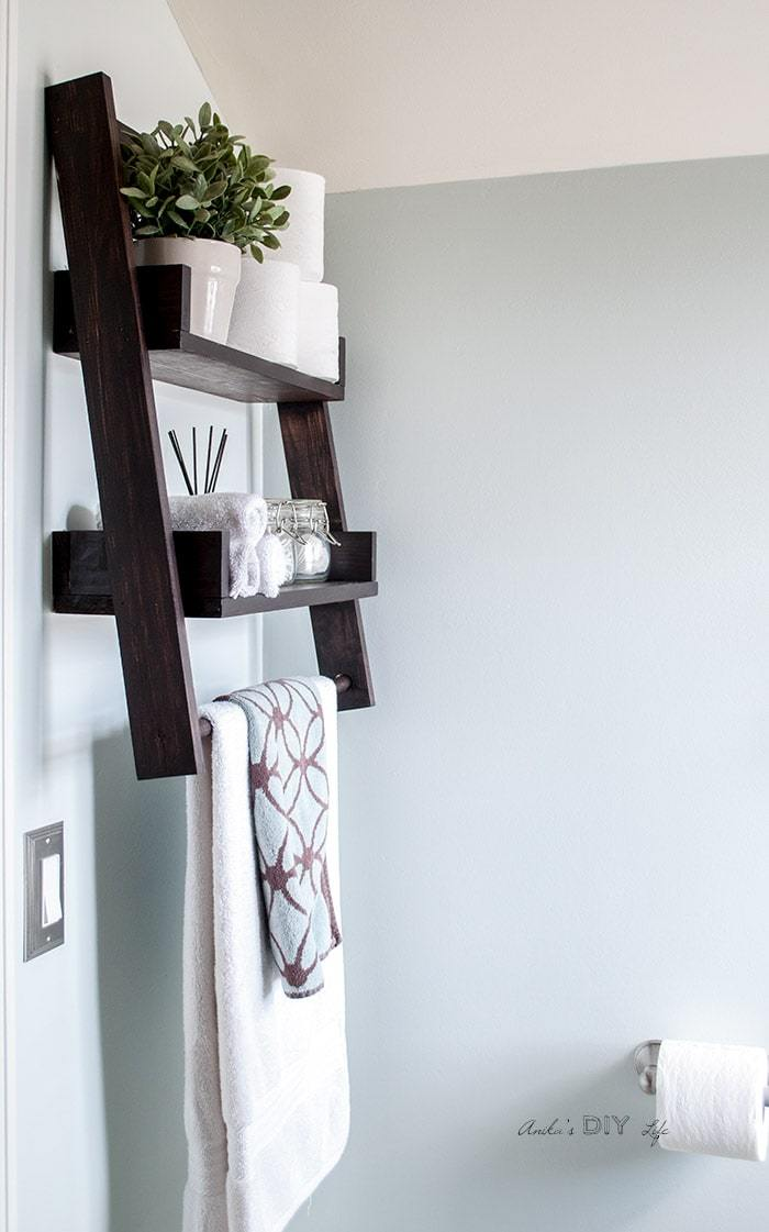 Floating Ladder Shelf - Printable Plans