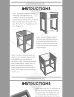 Farmhouse Nightstand - Printable Plans