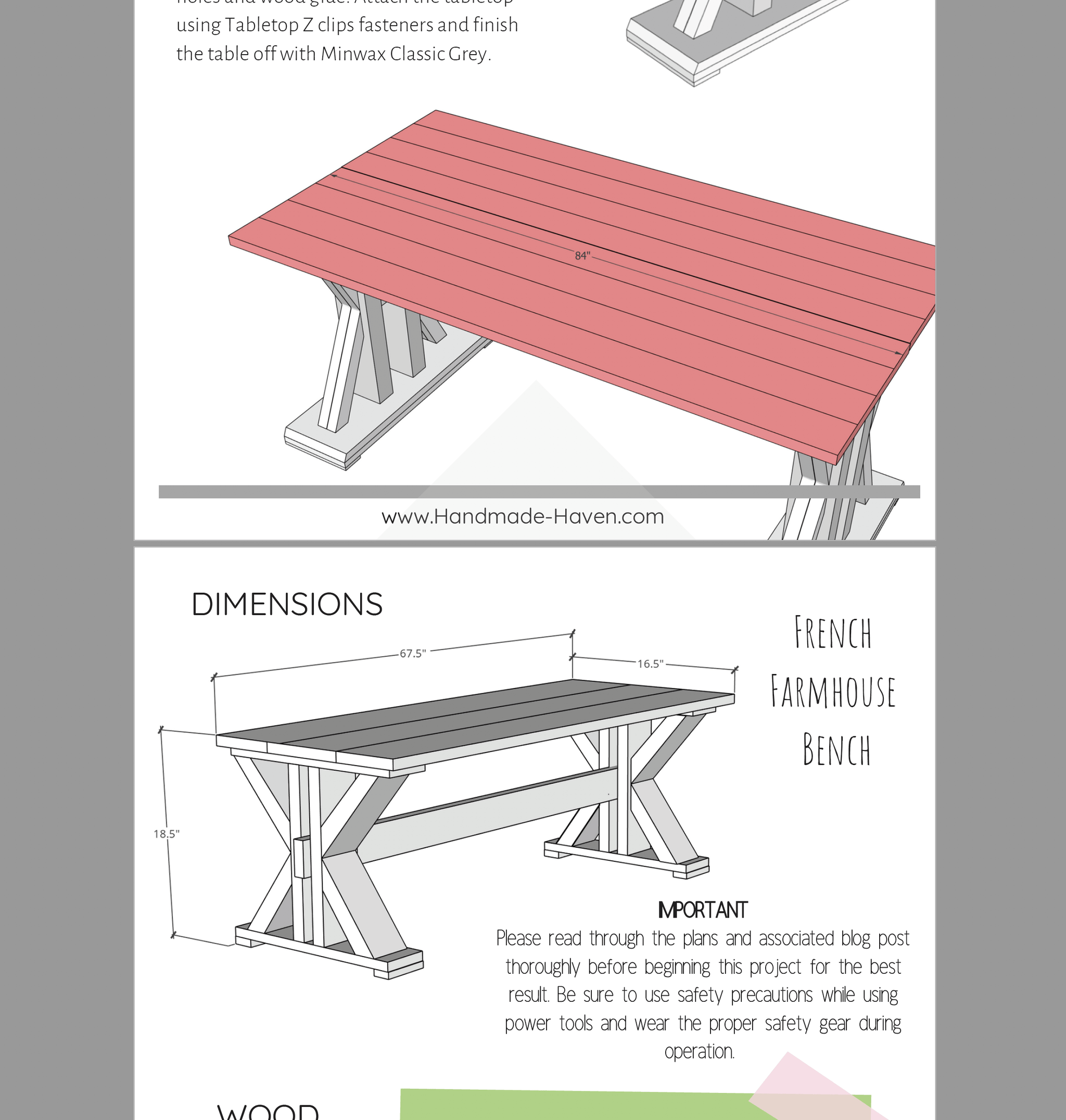 picture regarding Printable Z Tables identified as French Farmhouse Eating Desk - Printable Packages