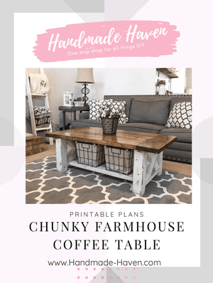 Chunky Farmhouse Coffee Table Printable Plans
