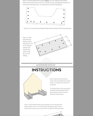 DIY House Frame Kids Desk - Printable Plans