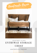 Entryway Storage Chest - Printable Plans