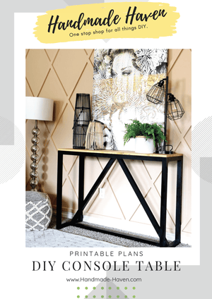 DIY Console Table - Printable Plans