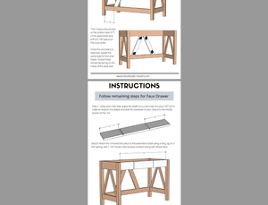 DIY Desk Printable Plans