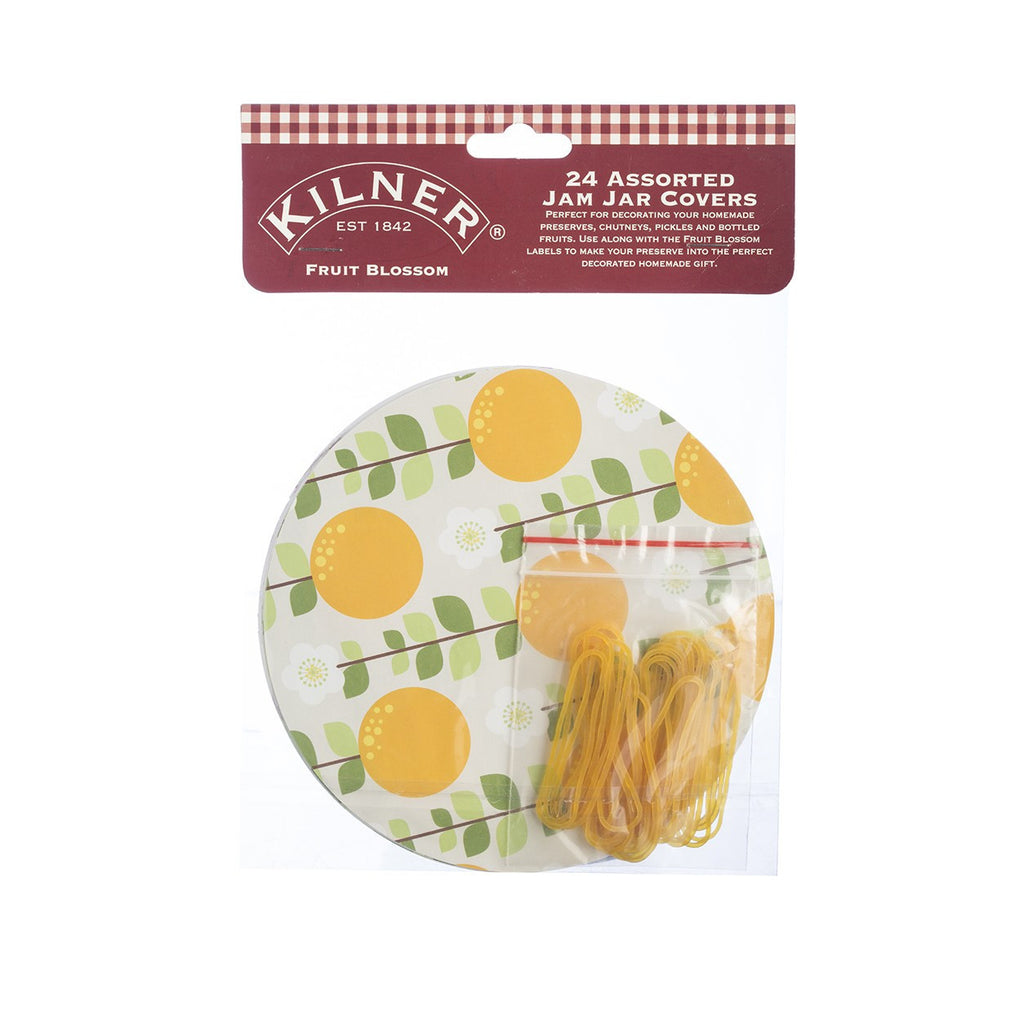 Kilner Fruit Blossom Jam Covers (Set of 24)