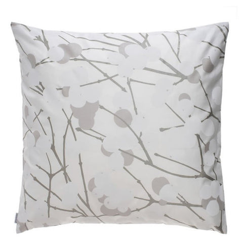 Marimekko Lumimarja Silver Cushion Cover 50 by 50 cm (Cover Only)