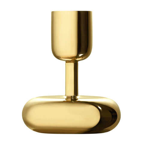 Iittala Nappula Brass Candle Holder 10.7cm