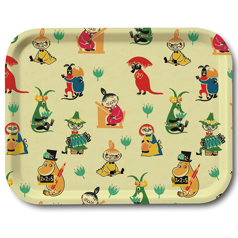 Moomin 50s Pattern Rectangular Tray 27cm by 20cm