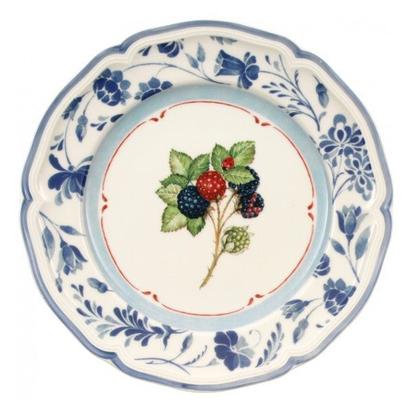 Villeroy and Boch Cottage Salad Plate Blackberry Blue 21cm